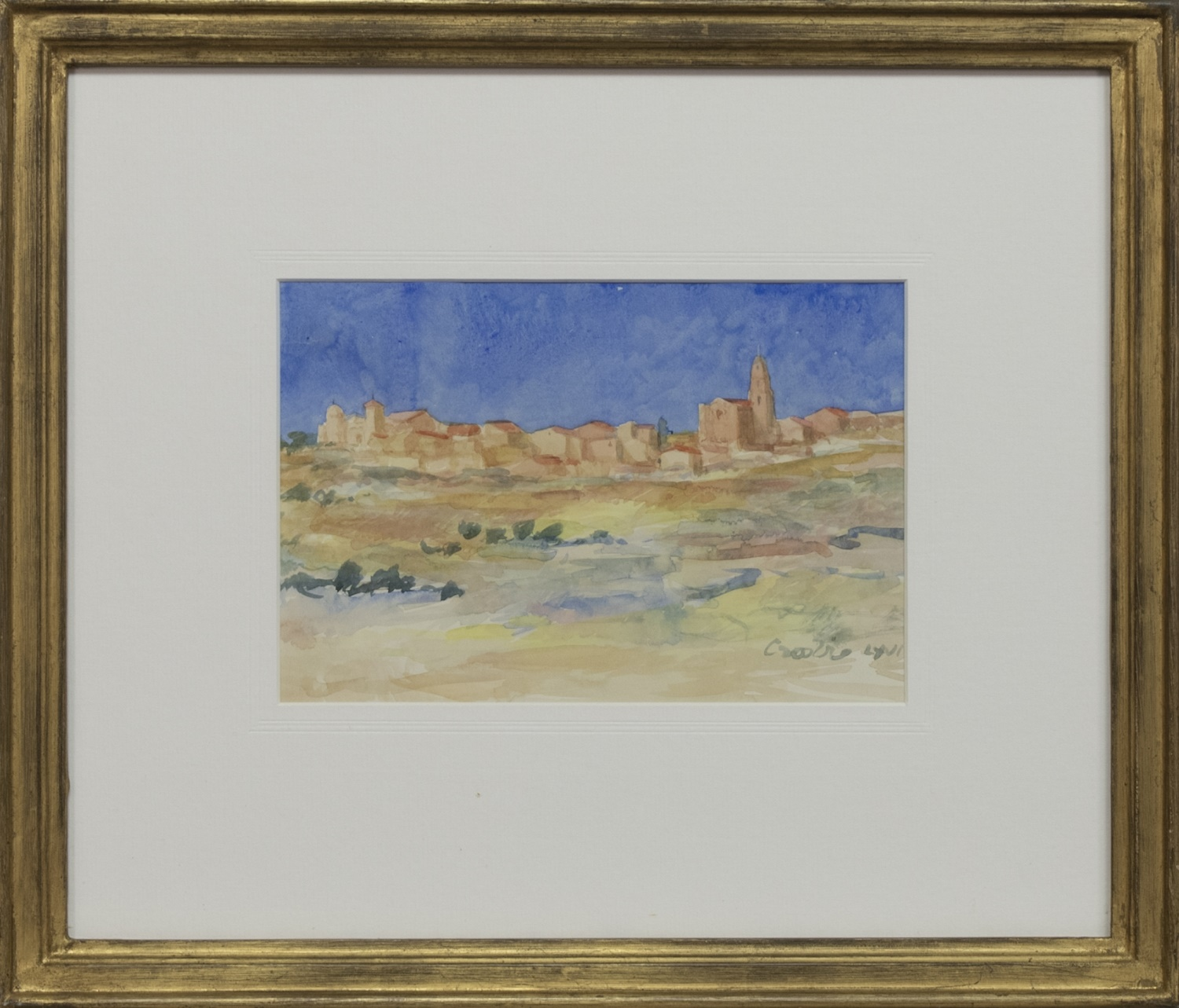 NEAR VALLADOLID, SPAIN, A WATERCOLOUR BY WILLIAM CROSBIE