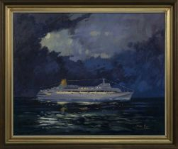 THE LOVE BOAT, AN OIL BY JAMES ORR