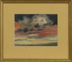SUNSET, A WATERCOLOUR BY JACK MONCUR