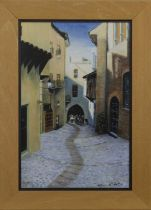 LOOKING DOWN, AN OIL BY PATRICIA REITH