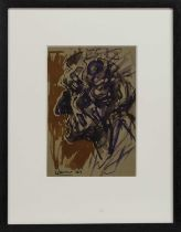 GORBALS MAN 2007, A WATERCOLOUR BY PETER HOWSON