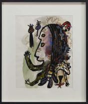 WOMAN INTO ANIMAL NO.1, 92350, A MIXED MEDIA BY ALAN DAVIE