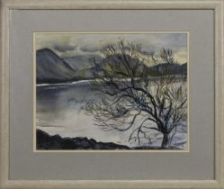 BLUE WATER, MULL, A WATERCOLOUR BY ANNETTE STEPHEN
