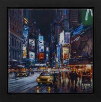 NEW YORK BY NIGHT, A PRINT BY HENDERSON CISZ