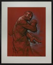 BAR 67 (STUDY), A PASTEL BY PETER HOWSON