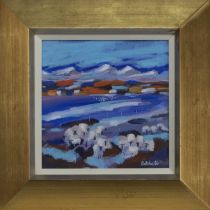 LATE SNOWS, PERTHSHIRE II, AN ACRYLIC BY MARY BATCHELOR