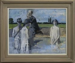 THE BAPTISM, A GOUACHE BY ALEXANDER GOUDIE