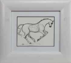 HORSES AT DRESSAGE, A PAIR OF SKETCHES
