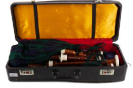 A SET OF 20TH CENTURY BAGPIPES