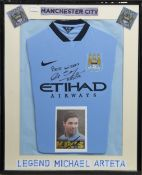 A MANCHESTER CITY F.C. JERSEY SIGNED BY MICHAEL ARTETA