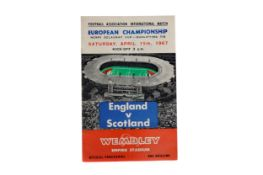 A ENGLAND V SCOTLAND MATCHDAY PROGRAMME FROM 'THAT MATCH' IN 1967