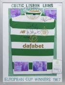 A CELTIC F.C. JERSEY SIGNED BY A NUMBER OF THE LISBON LIONS