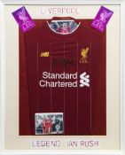 A LIVERPOOL F.C. JERSEY SIGNED BY IAN RUSH