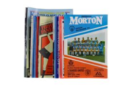 A COLLECTION OF GREENOCK MORTON FOOTBALL CLUB AND OTHER FOOTBALL PROGRAMMES
