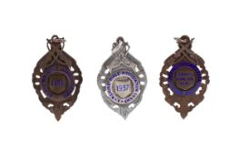 A LOT OF THREE AYRSHIRE RIFLE ASSOCIATION MEDALS