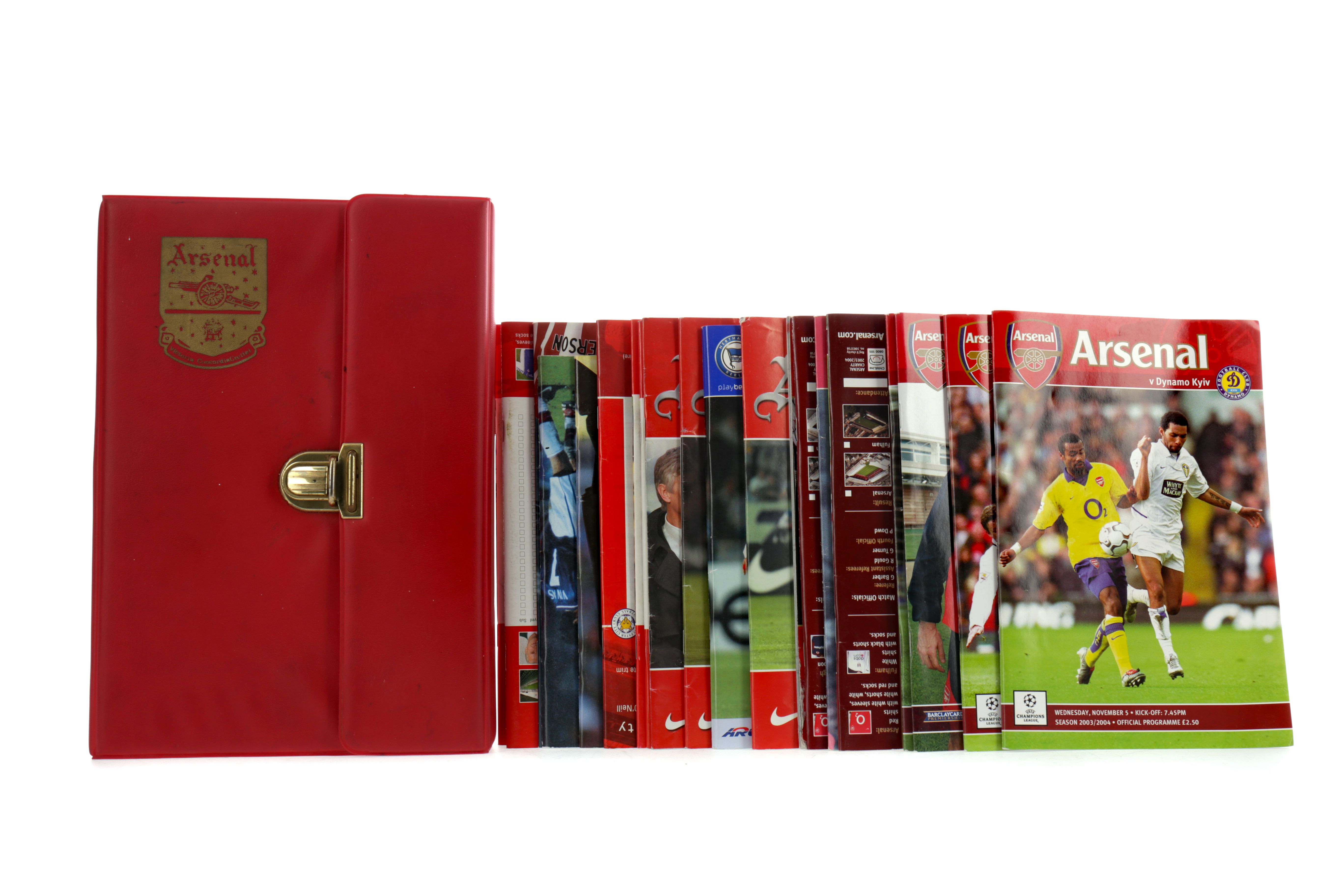 A COLLECTION OF ARSENAL F.C. PROGRAMMES