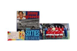 JIMMY GREAVES, AUTOGRAPHED COPY OF THE SIXTIES REVISITED
