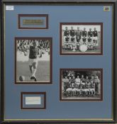 BOBBY MOORE ENGLAND AND WEST HAM F.C. AUTOGRAPH DISPLAY