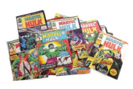 A COLLECTION OF MARVEL THE INCREDIBLE HULK COMIC BOOKS
