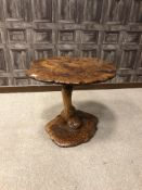 A 20TH CENTURY BURR ELM OCCASIONAL TABLE