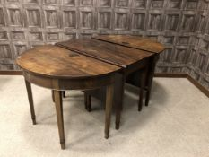 A MAHOGANY SECTIONAL DINING TABLE