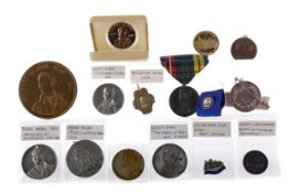A COLLECTION OF ROBERT BURNS TOKENS AND MEDALS