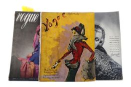 A COLLECTION OF 1930S EDITIONS OF VOGUE MAGAZINE