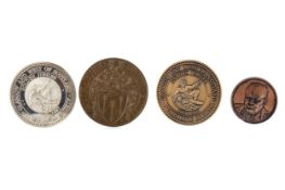 A GROUP OF SILVER AND OTHER PRIZE AND COMMEMORATIVE MEDALLIONS