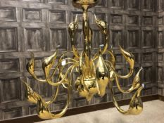 A PAIR OF ITALIAN MID-CENTURY CONTEMPORARY DESIGN CHANDELIERS