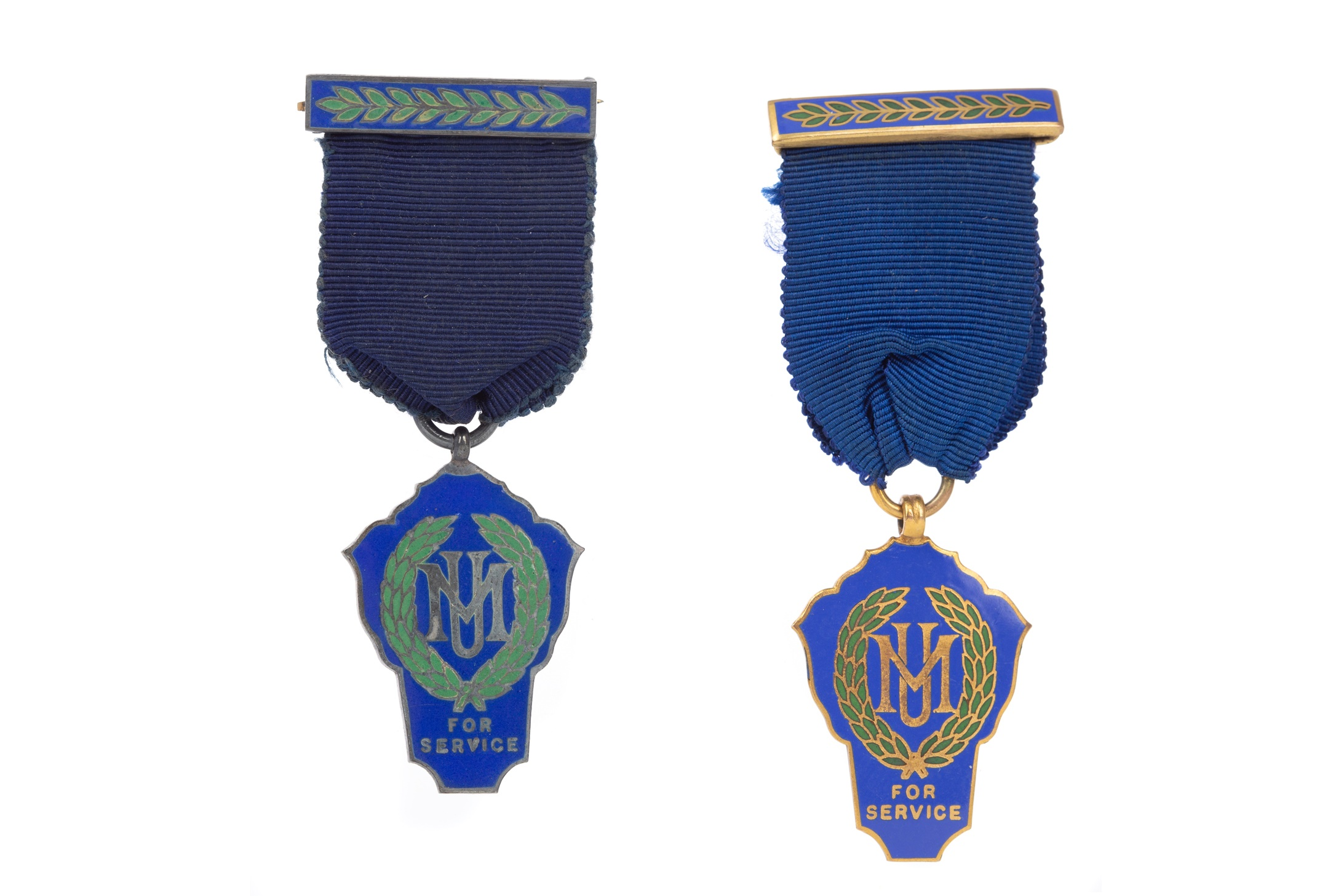 TWO ENAMELLED MEDALS