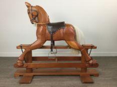 A PINE CHILD'S ROCKING HORSE