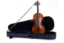 A VIOLIN AND BOW IN CASE