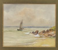 SAILING, A MIXED MEDIA BY WILLIAM BINGHAM MCGUINNESS