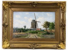WINDMILL IN HARVEST, AN OIL BY VALENTIN CAMERON PRINCEP
