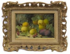 FRUIT STUDY, AN OIL BY OLIVER CLARE