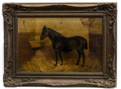 HORSE IN A STABLE, A BRITISH OIL