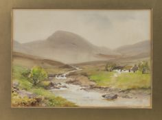 IN THE DONEGAL HIGHLANDS, A MIXED MEDIA BY WILLIAM BINGHAM MCGUINNESS