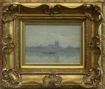 RIVER SCENE, A WATERCOLOUR BY JAMES GARDEN LAING
