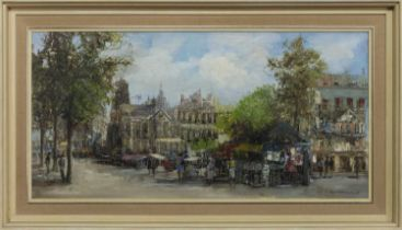 CATHEDRAL SQUARE, AN OIL BY THEO VAN OORSHOT