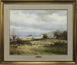 AT DUNSEVERICK, AN OIL BY MAURICE CANNING WILKS
