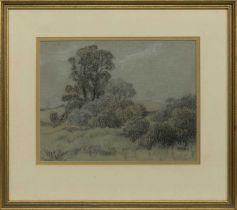 LANDSCAPE OF TREES, A PASTEL BY JOHN BULLOCH SOUTER