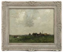 AN UNTITLED OIL BY JOHN MACLAUCHLAN MILNE