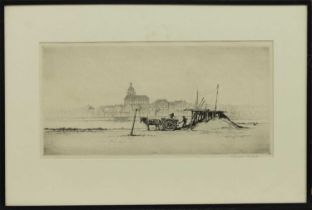ON THE TAGUS, AN ETCHING BY WILLIAM DOUGLAS MACLEOD