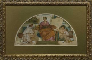 THE PAINTING LESSON, A WATERCOLOUR ATTRIBUTED TO JOSEPH NOEL PATON