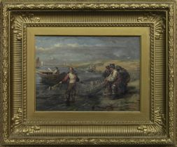 CLEARING THE NETS, AN OIL BY ROBERT THORBURN ROSS