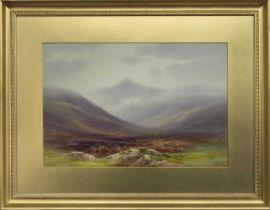 GLEN ROSA, ARRAN, A WATERCOLOUR BY CHARLES EDWARD BRITTAN