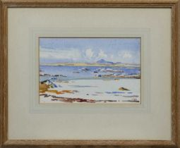 A NEAP TIDE, IONA, A WATERCOLOUR BY MARY HOLDEN BIRD
