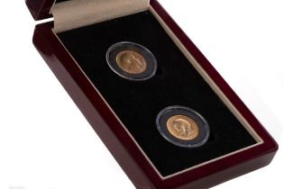 TWO GOLD SOVEREIGN COIN SET