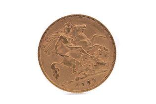AN EDWARD VII GOLD HALF SOVEREIGN DATED 1907