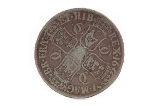 A CHARLES II (1660 - 1685) SILVER CROWN